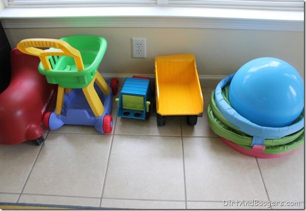 large motor play, playroom redo, kid's toys, organizing