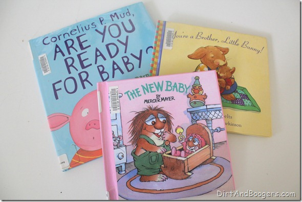 preparing toddlers for new baby, baby book