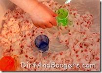 Water Beads, shaving cream, sensory play