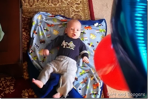 Baby Play with Balloons, 4 months, 6 months