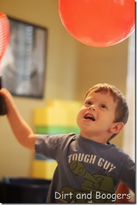 balloon play, preschool play