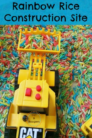 Rainbow Rice Construction Site for Kids