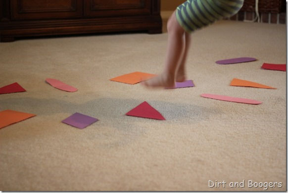 Preschool Play: Color Shape River