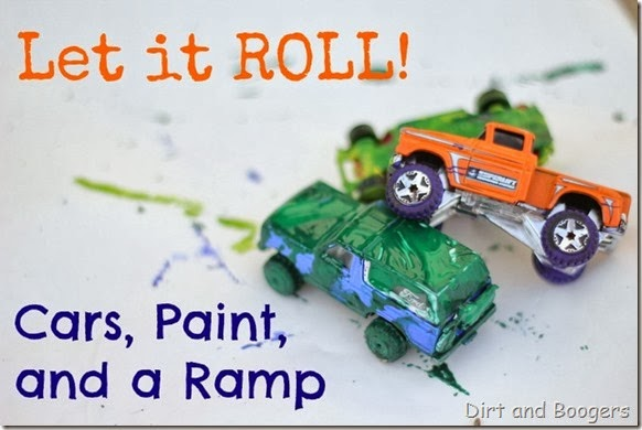 Let it Roll! Painting Cars on a Ramp