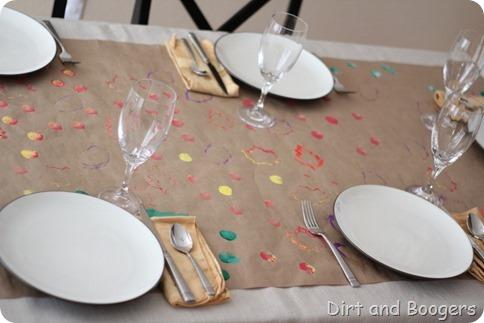 Child Made Thanksgiving Table Runner