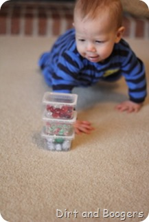 DIY Christmas Discovery Shakers for Baby